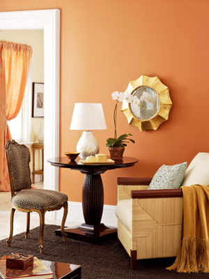 Sofies verden decorating with spice colors for Pumpkin spice paint living room