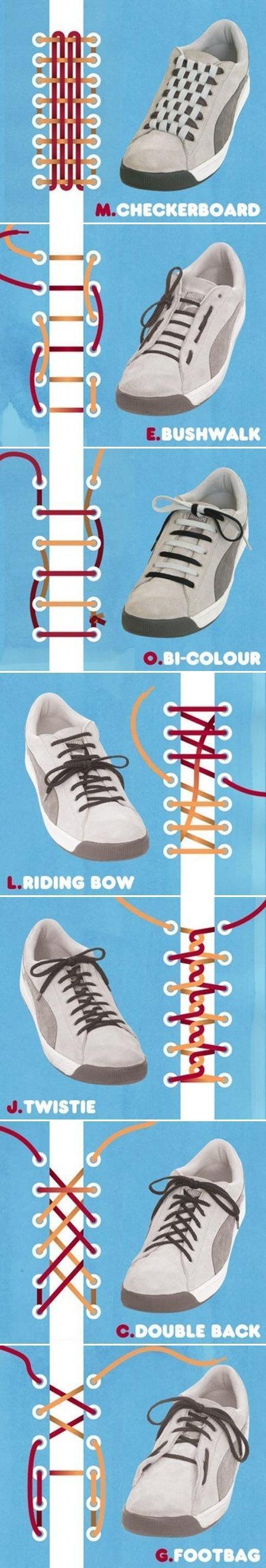 신발끈 예쁘게 묶는법, 신발끈 묶는 방법