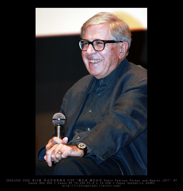 20081008 2008 제13회 부산국제영화제 PIFF '빠드레 빠드로네 Padre Padrone Father and Master 1977' GV 파올로 타비아니 Paolo Taviani