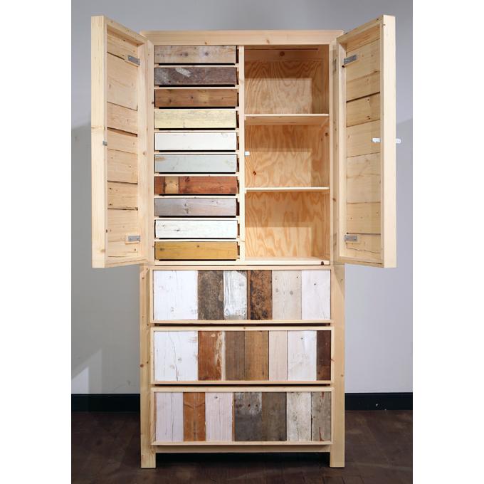 scrap wood cupboard