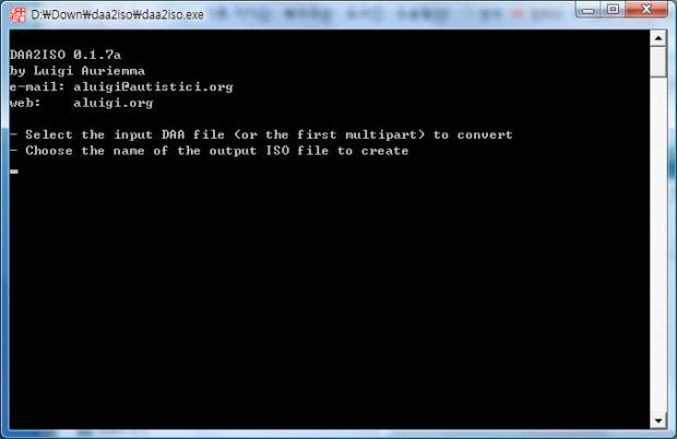 확장자 daa 파일을 iso 파일로 변환 - daa2iso - 데스크탑 자료실 - romeo1052.net