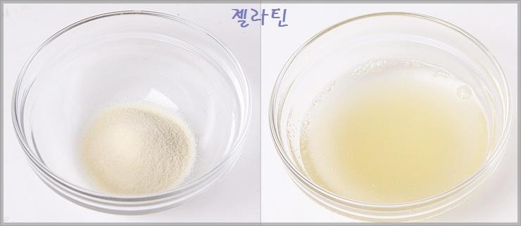포도주스( 웰치)로 만든 달콤한 디저트- 포도젤리