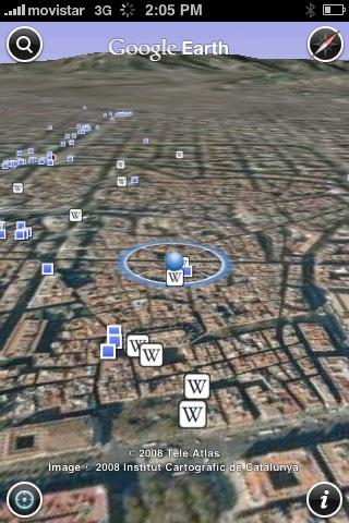 아이폰(iPhone)용 구글어스(Google Earth)