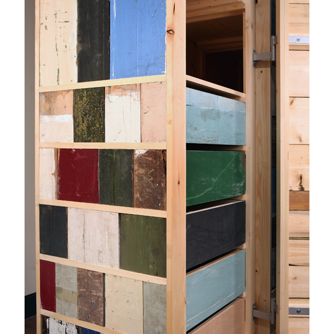 scrap wood cupboard 3 doors