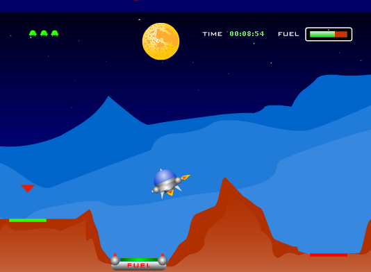 Lunar Lander - Flash Game