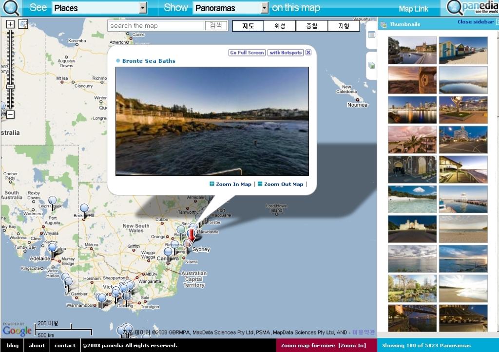 구글맵 파노라마 사이트