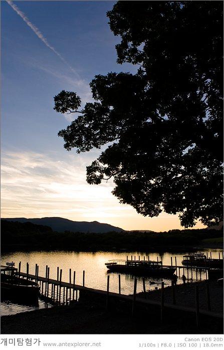 케스윅 (Keswick) 더웬트 호수 (Derwent Water)의 노을
