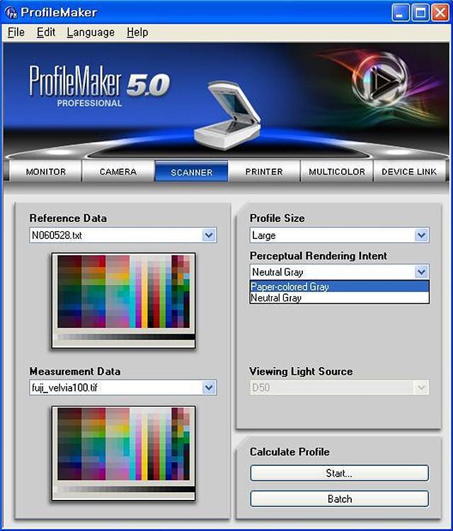 profilemaker 5.10_IT8을 이용한 Scanner Profile 만들기