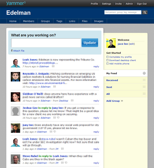 Yammer for Edelman