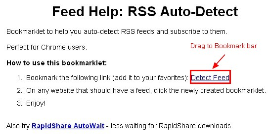 RSS in Chrome browser