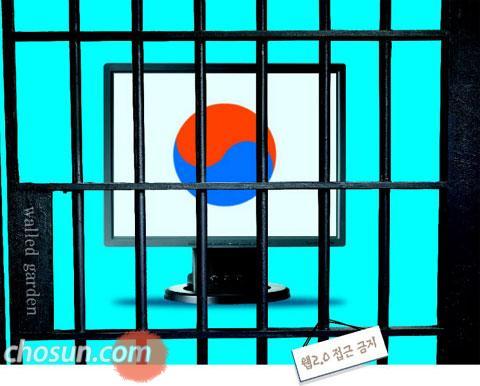 한국은 웹2.0 접근금지?